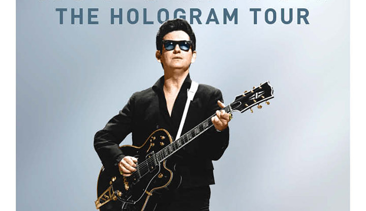 Image: Roy Orbison Hologram Image Text: The Hologram Tour